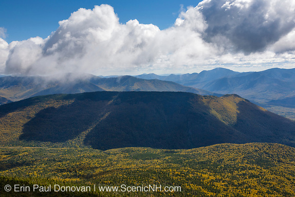 Owls Head and the Pemigewasset Wilderness from the Franconia Ridge Trail (Appalachian Trail) near Little Haystack Mountain during the autumn months in the White Mountains, New Hampshire USA. This forest was logged during the East Branch & Lincoln Railroad era, which as was a logging railroad in operation from 1893-1948.
